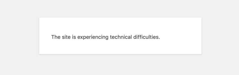 website not loading