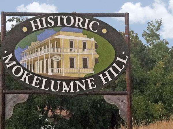 Mokelumne Hill sign